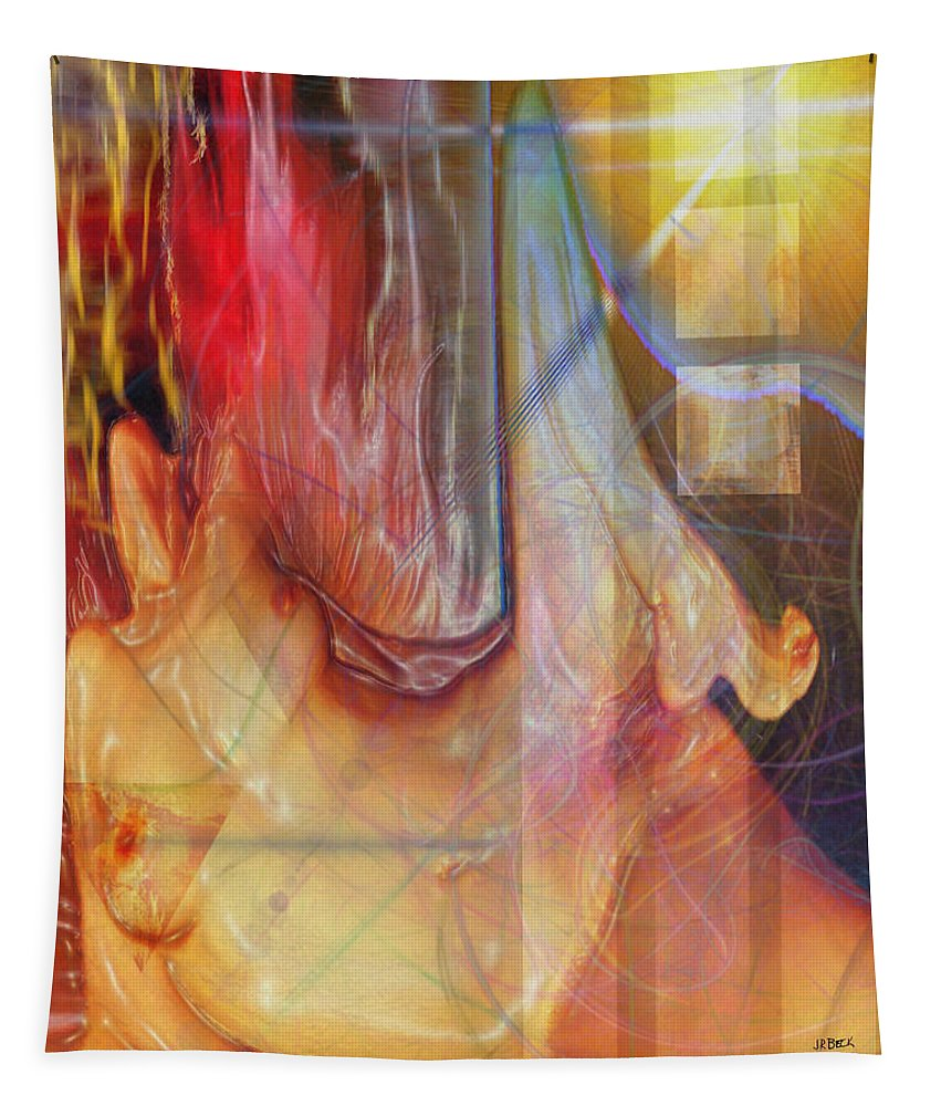 Passion Play Tapestry featuring the digital art Passion Play by John Robert Beck