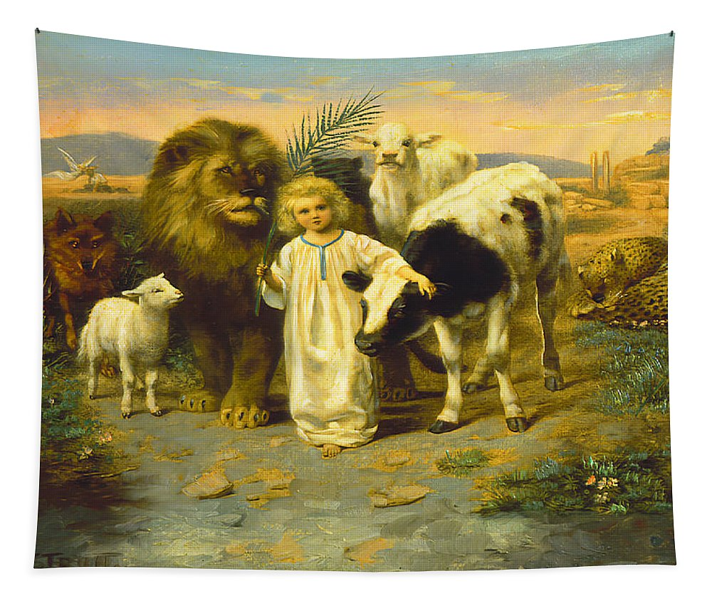 Art Print of Vintage Art A Little Child Shall Lead Them by William Strutt