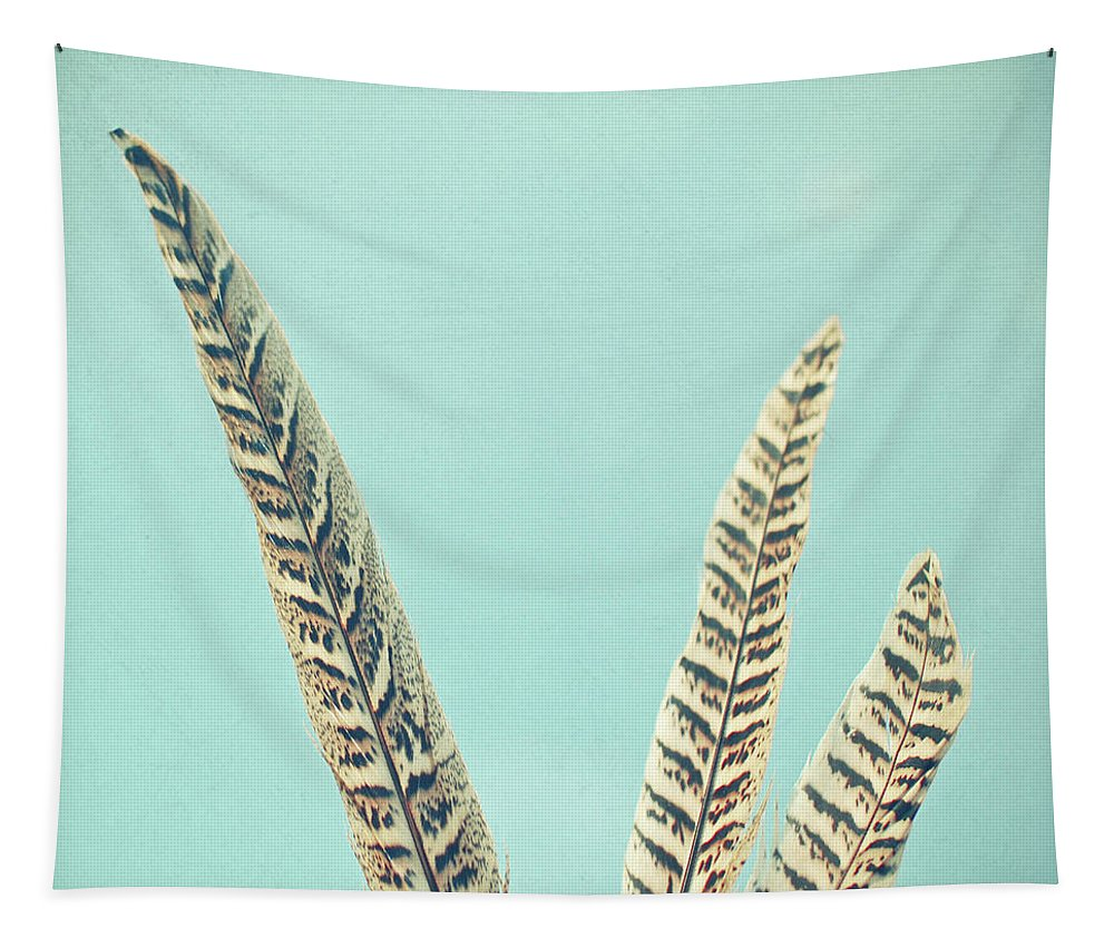 Feathers Tapestry featuring the photograph Plumes by Cassia Beck