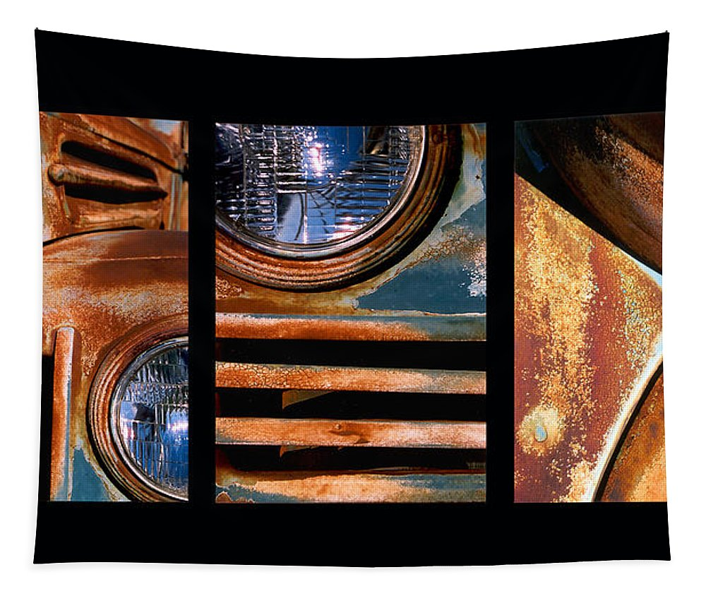 Abstract Tapestry featuring the photograph Red Head On by Steve Karol