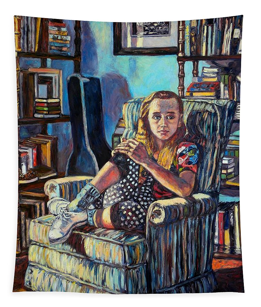 Figure Tapestry featuring the painting Samantha by Kendall Kessler