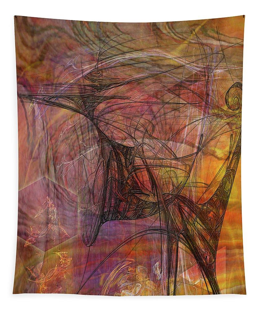 Shadow Dragon Tapestry featuring the digital art Shadow Dragon by John Robert Beck