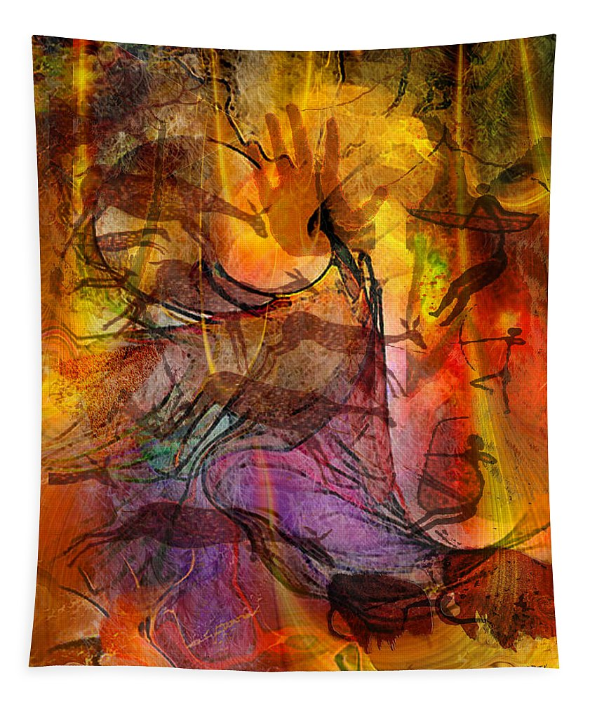 Shadow Hunters Tapestry featuring the digital art Shadow Hunters by John Robert Beck
