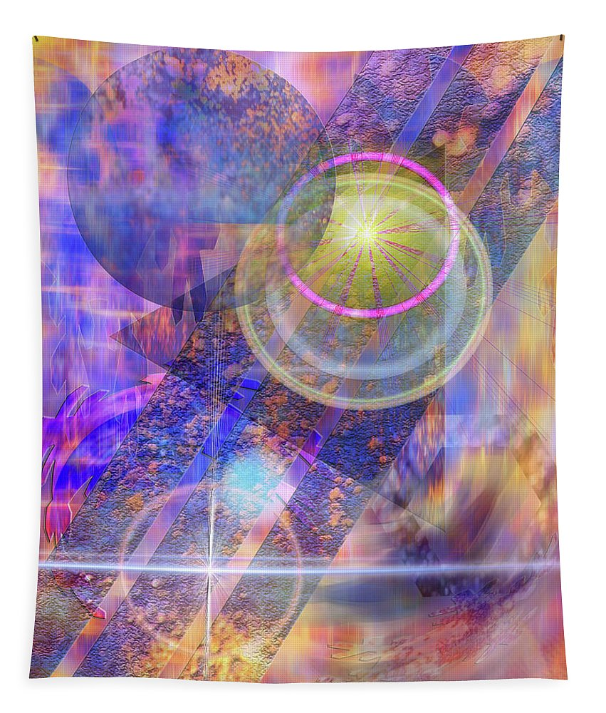 Solar Progression Tapestry featuring the digital art Solar Progression by John Robert Beck