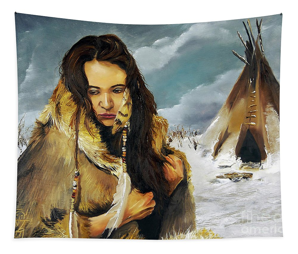 Southwest Art Tapestry featuring the painting Solitude by J W Baker