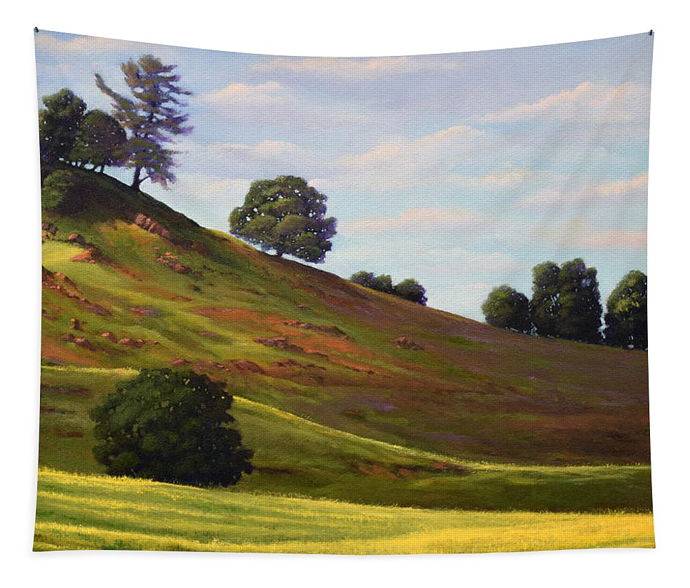 Landscape Tapestry featuring the painting Spring Day by Frank Wilson