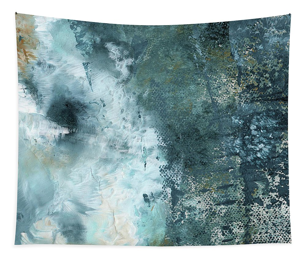 Abstract Tapestry featuring the painting Summer Storm- Abstract Art by Linda Woods by Linda Woods