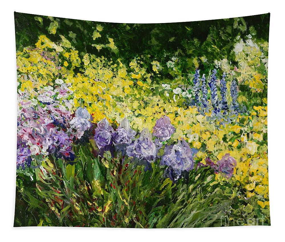 Landscape Tapestry featuring the painting Sunshine Blossoms by Allan P Friedlander