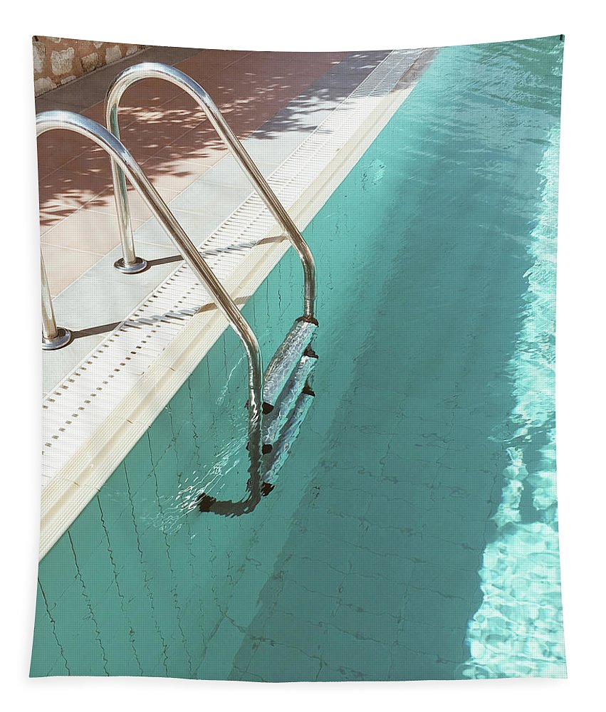Swimming Pool Tapestry featuring the photograph Swimming Pool IV by Cassia Beck