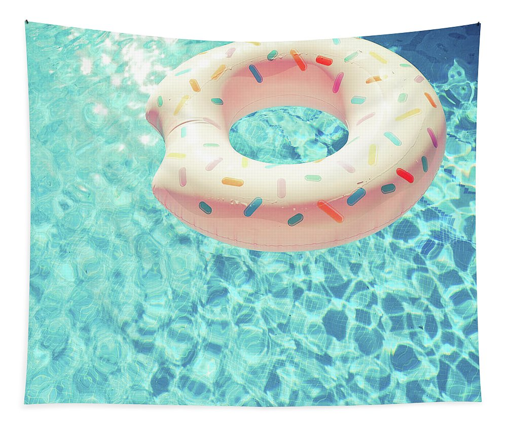 Swimming Pool Tapestry featuring the photograph Swimming Pool VII by Cassia Beck