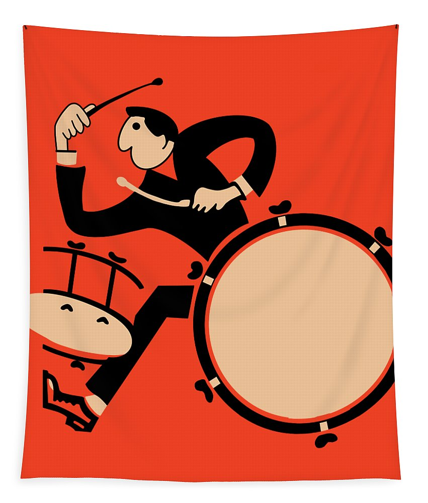 Drum Tapestry featuring the photograph The Drummer by Mark Rogan
