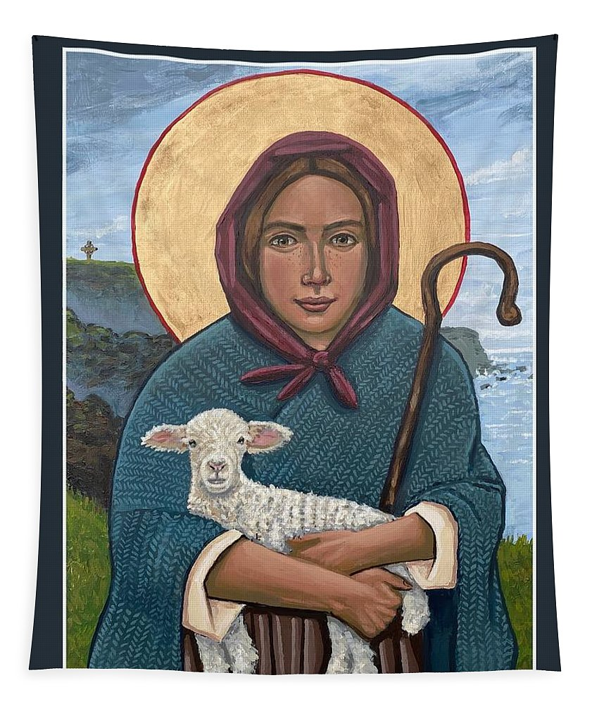 Tapestry featuring the painting The Good Shepherdess by Kelly Latimore