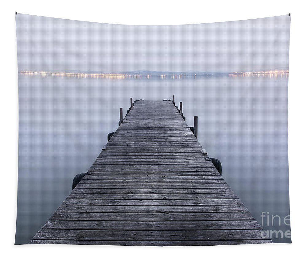 Photography Tapestry featuring the photograph The Pier by Vicente Sargues