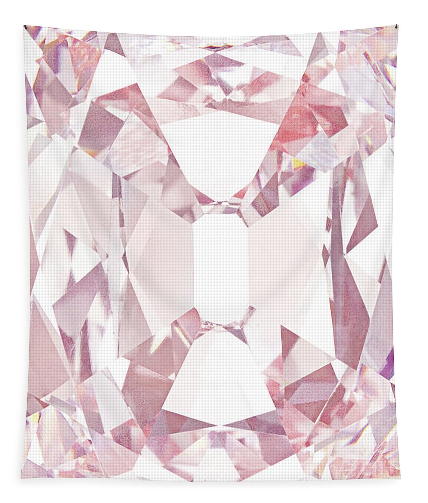 Pink Tapestry featuring the photograph The Princie Diamond, Detail by American School