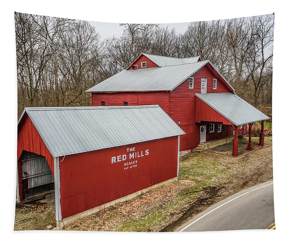 Landscape Tapestry featuring the photograph The Red Mills by Scott Smith