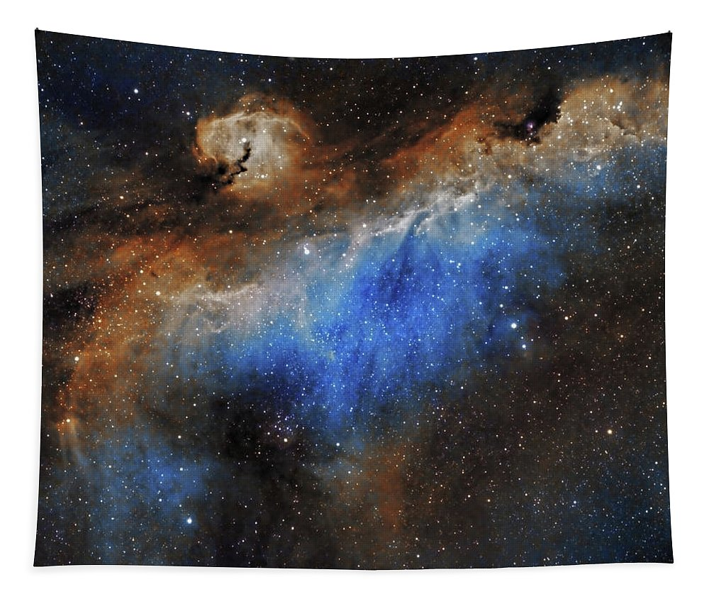 Astronomy Tapestry featuring the photograph The Seagull Nebula by Prabhu Astrophotography