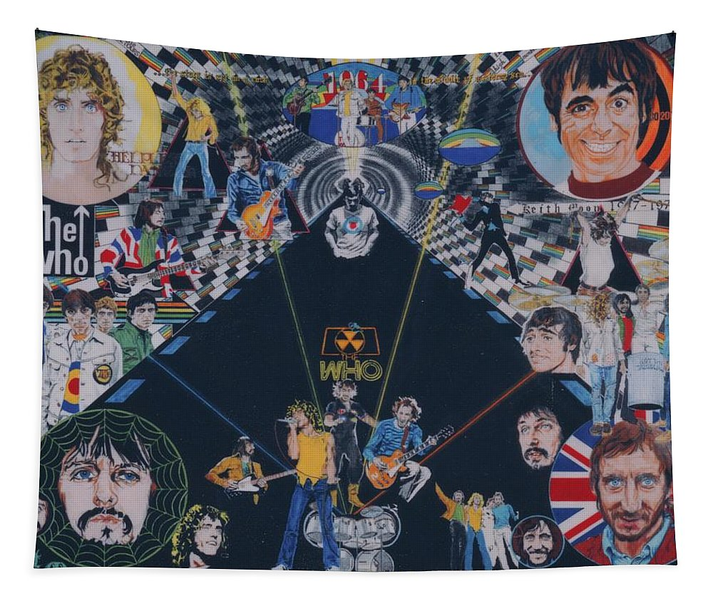Montage Tapestry featuring the drawing The Who - Quadrophenia by Sean Connolly