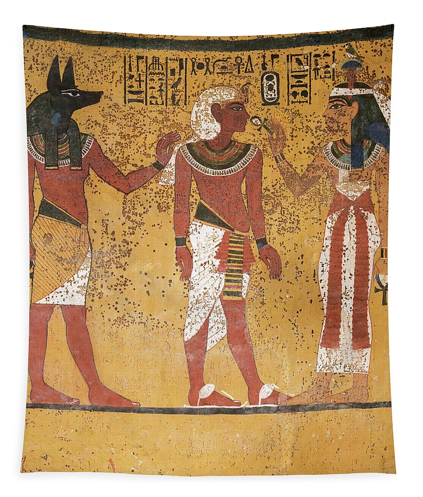 Tomb Of Tutankhamun Tapestry featuring the painting Tomb Of Tutankhamun by Egyptian History