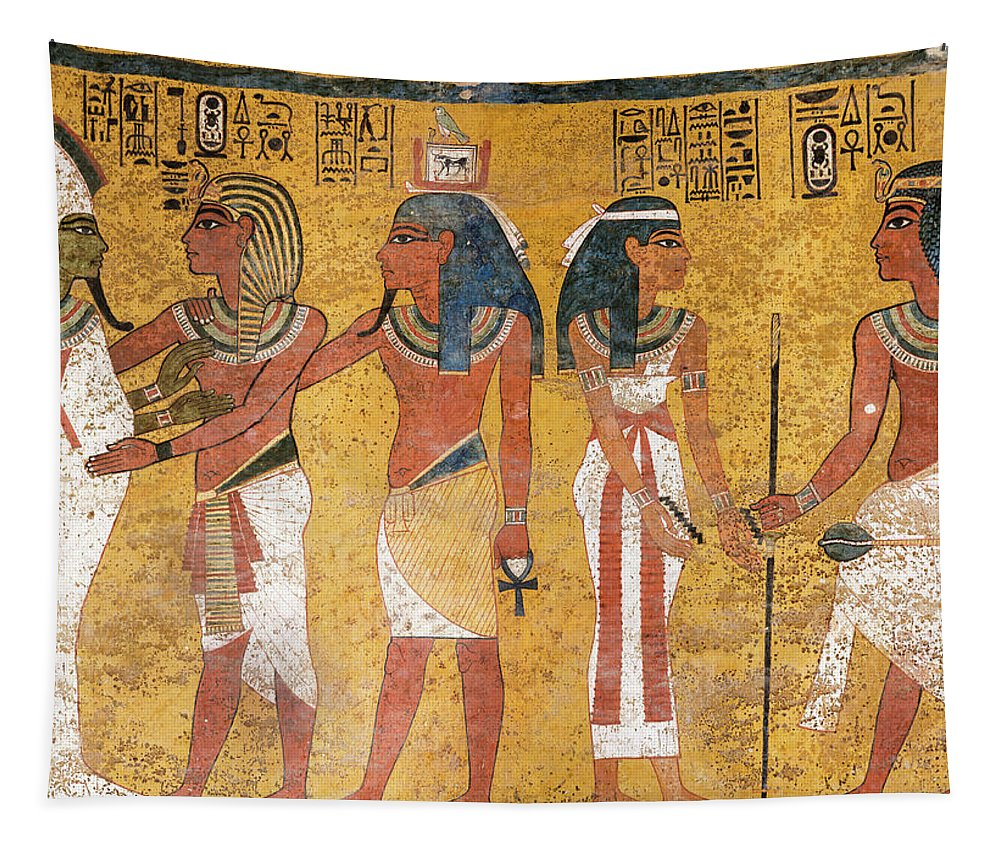 Tomb Of Tutankhamun Tapestry featuring the painting Tomb Of Tutankhamun, Valley Of The Kings by Egyptian History