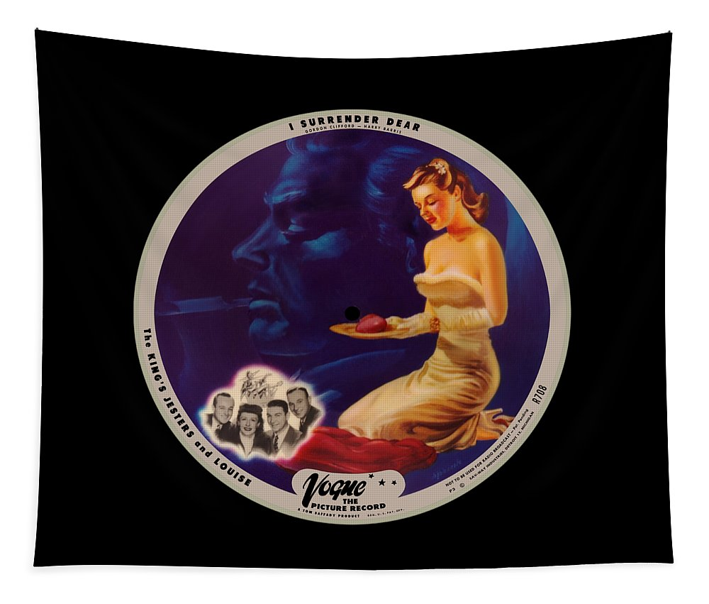 Vogue Picture Record Tapestry featuring the digital art Vogue Record Art - R 708 - P 3 - Square Version by John Robert Beck