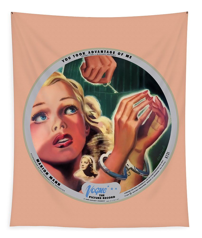 Vogue Picture Record Tapestry featuring the digital art Vogue Record Art - R 731 - P 105 - Square Version by John Robert Beck