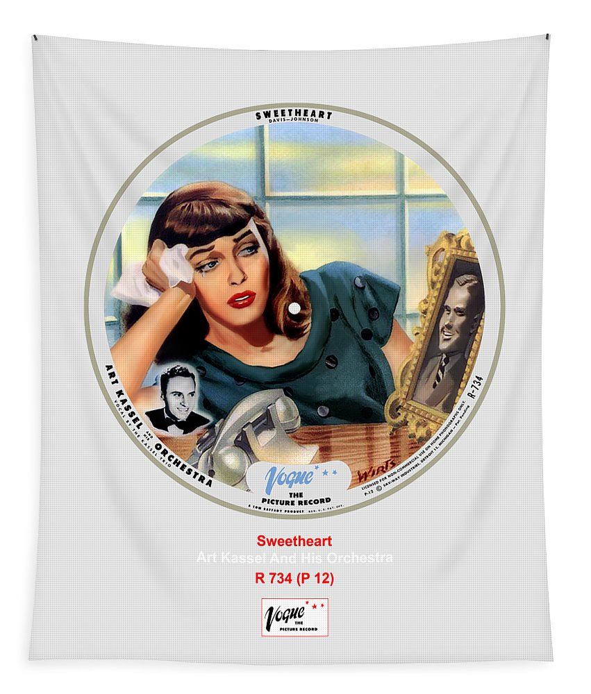 Vogue Picture Record Tapestry featuring the digital art Vogue Record Art - R 734 - P 12 by John Robert Beck