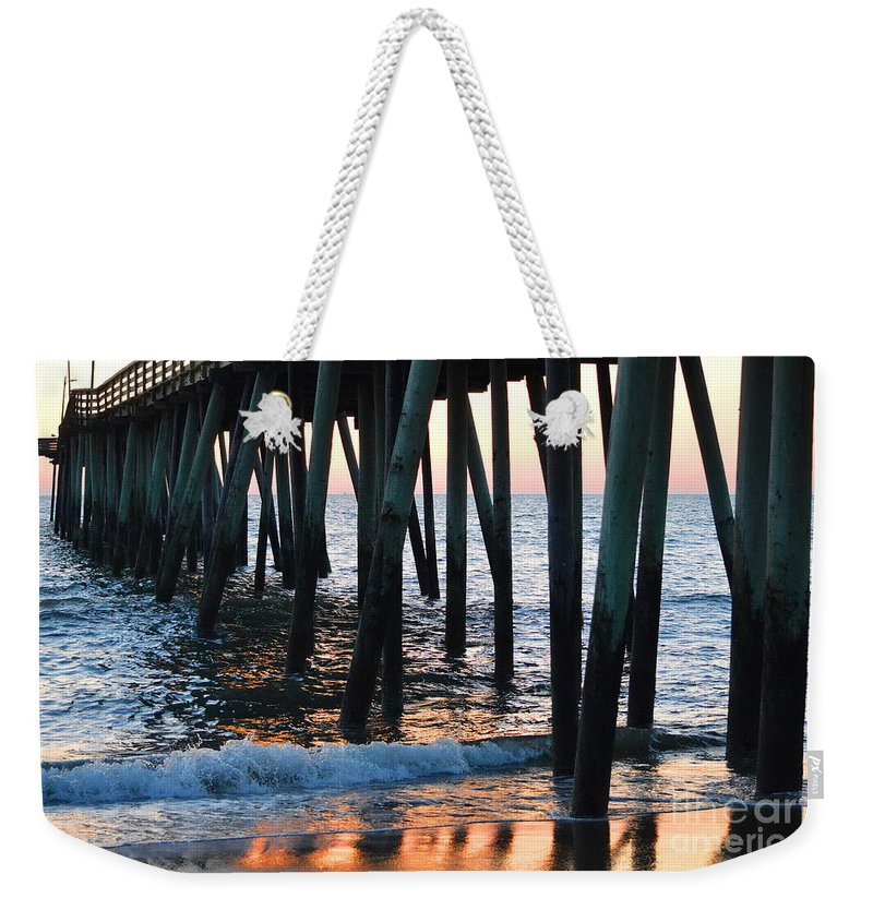 Beach Weekender Tote Bag featuring the photograph 16th Street Pier by Karin Everhart