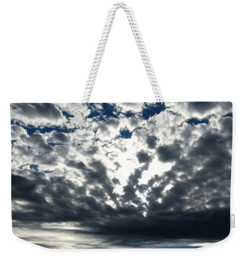 A Glorious Cloudscape Weekender Tote Bag featuring the photograph A Glorious Cloudscape by Will Borden