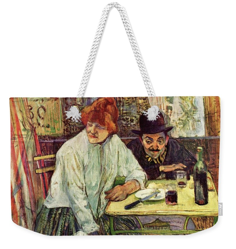 Toulouse Lautrec Weekender Tote Bag featuring the digital art A La Mie by Toulouse Lautrec
