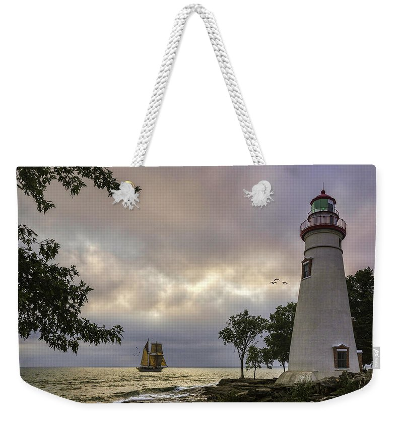 Marblehead Lighthouse Weekender Tote Bag featuring the photograph A Place To Dream by Dale Kincaid