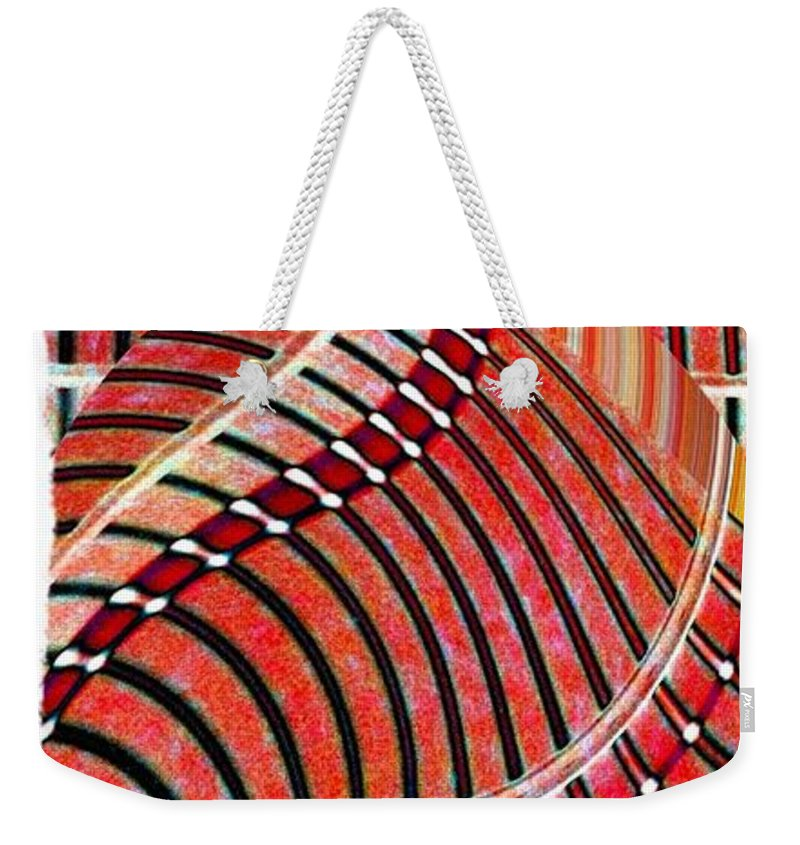 Abstract Fusion Weekender Tote Bag featuring the digital art Abstract Fusion 204 by Will Borden