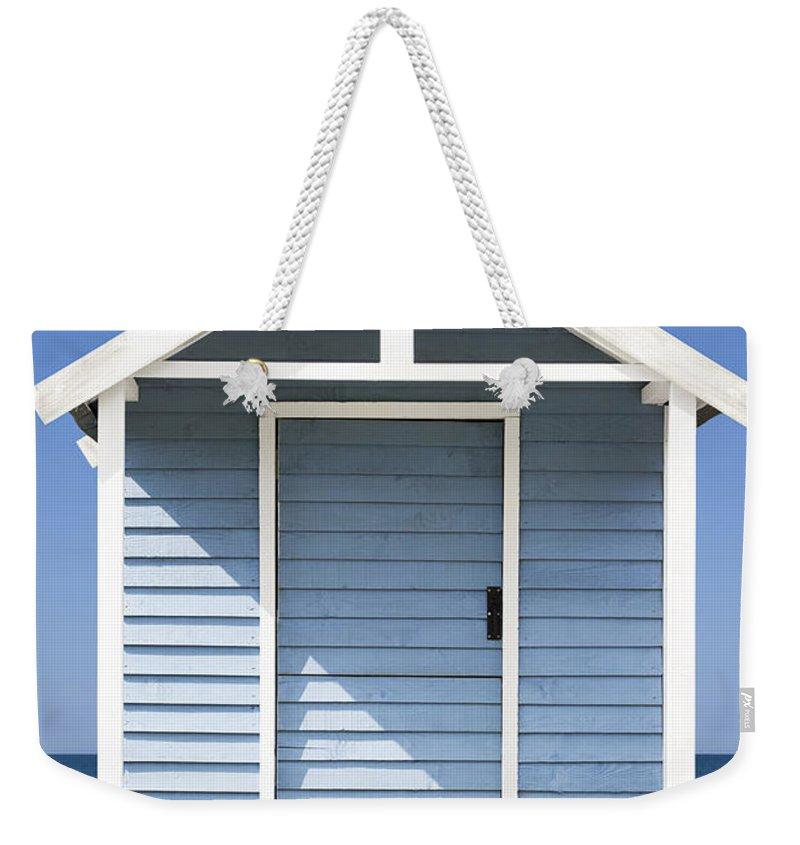Sea Side Hut Weekender Tote Bag featuring the photograph Beach Hut by Gillian Dernie