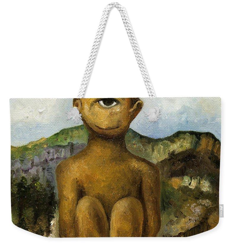Cyclops Weekender Tote Bags