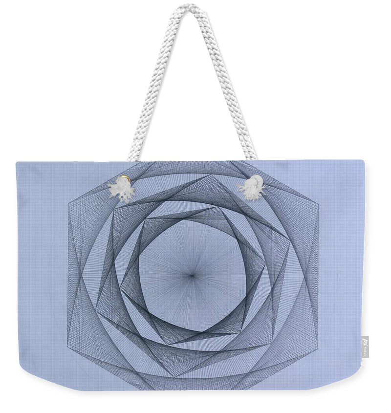 Jason Padgett Weekender Tote Bag featuring the drawing  Energy Spiral by Jason Padgett