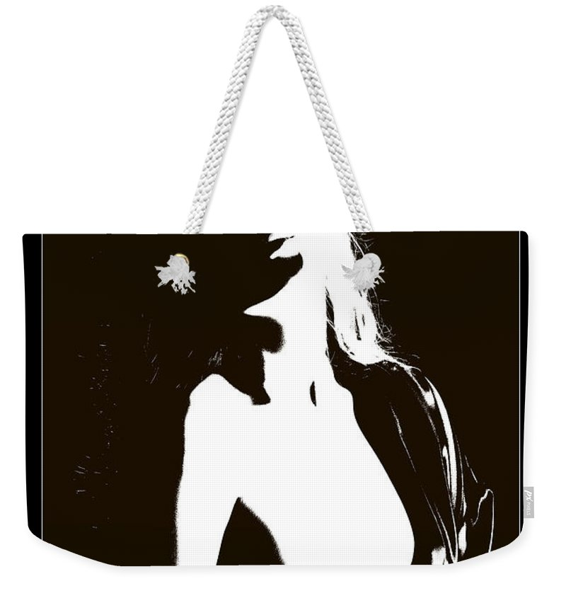 Nude Woman Weekender Tote Bag featuring the photograph Feels So Good 1088.01c by Kendree Miller