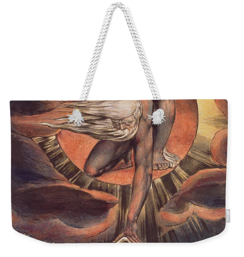 Frontispiece Weekender Tote Bag featuring the photograph Frontispiece From 'europe. A Prophecy' by William Blake