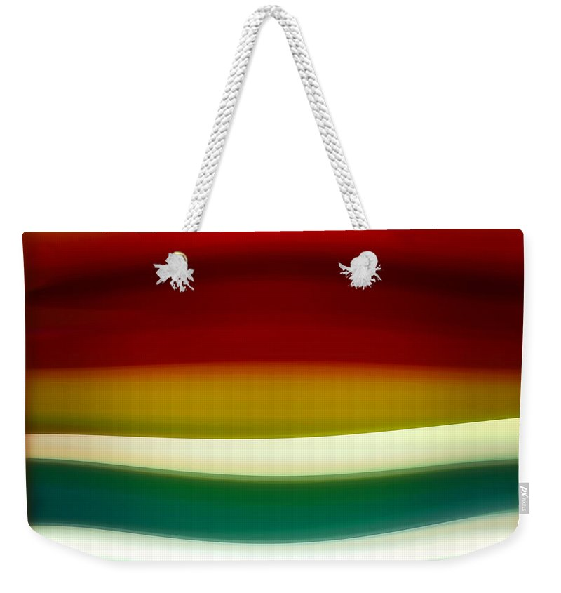 Fury Weekender Tote Bag featuring the painting  Fury Sea 3 by Amy Vangsgard
