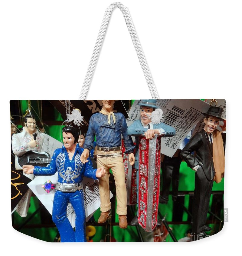 Christmas Ornaments Weekender Tote Bag featuring the photograph Icons by Ed Weidman
