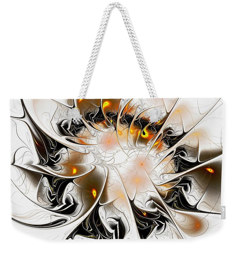 Malakhova Weekender Tote Bag featuring the digital art Ignition by Anastasiya Malakhova