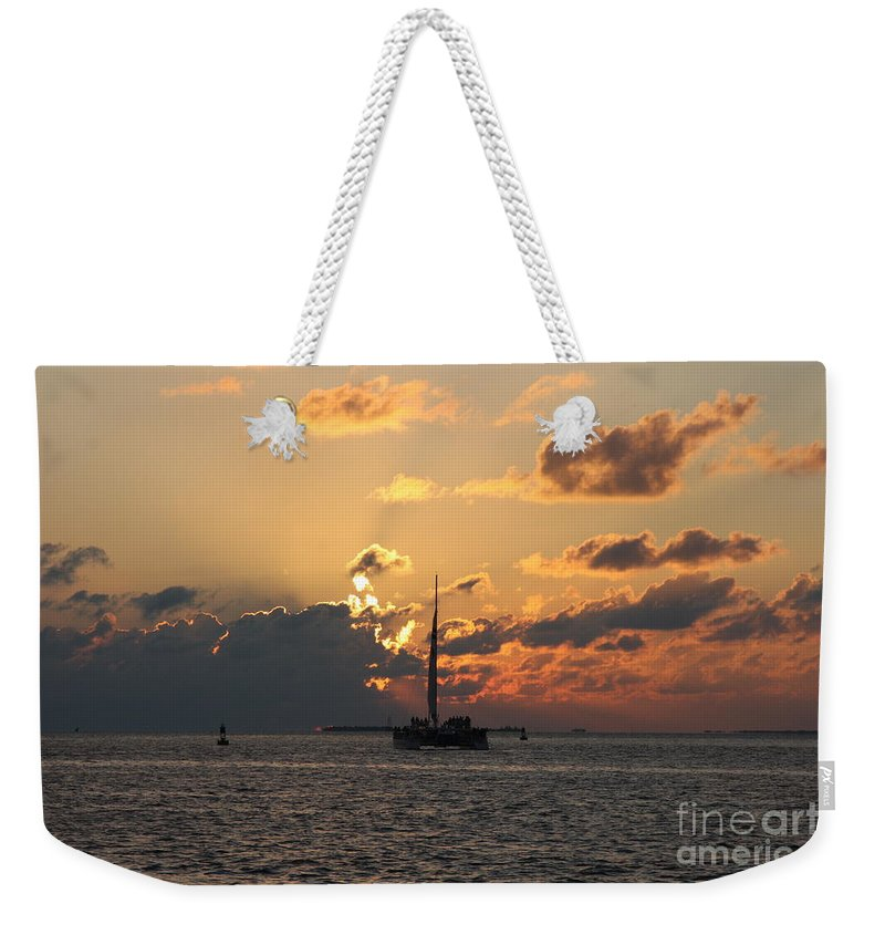 Sunset Weekender Tote Bag featuring the photograph Marelous Key West Sunset by Christiane Schulze Art And Photography