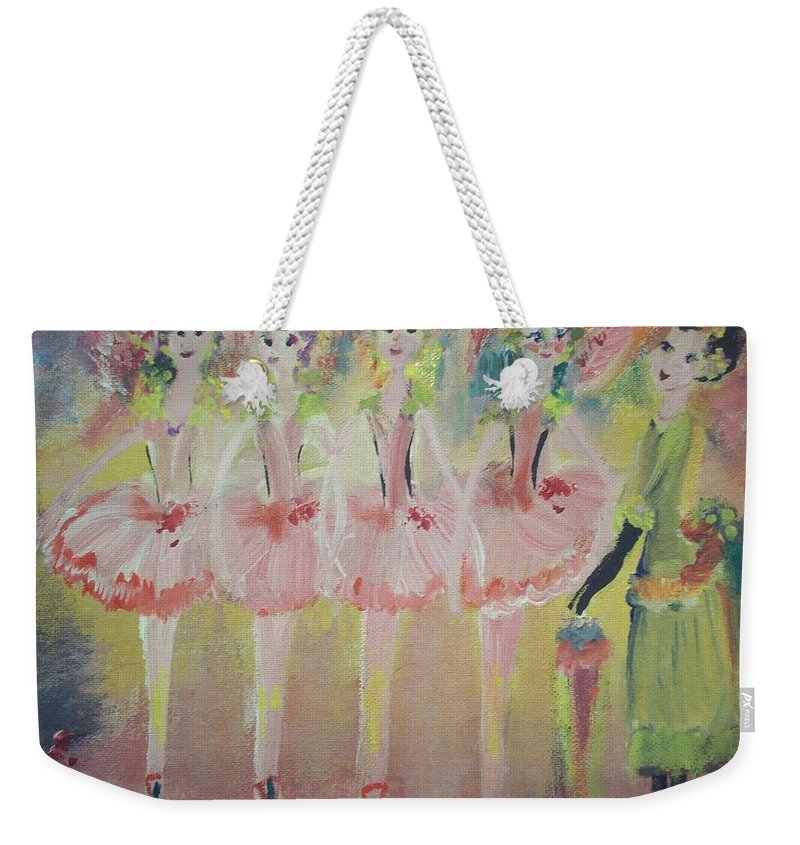 Quadrille Weekender Tote Bag featuring the painting Madams Quadrille Ballet by Judith Desrosiers