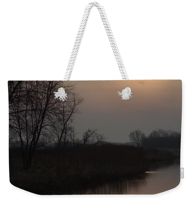 Sunrise Weekender Tote Bag featuring the photograph Marsh Sunrise by Bonfire Photography
