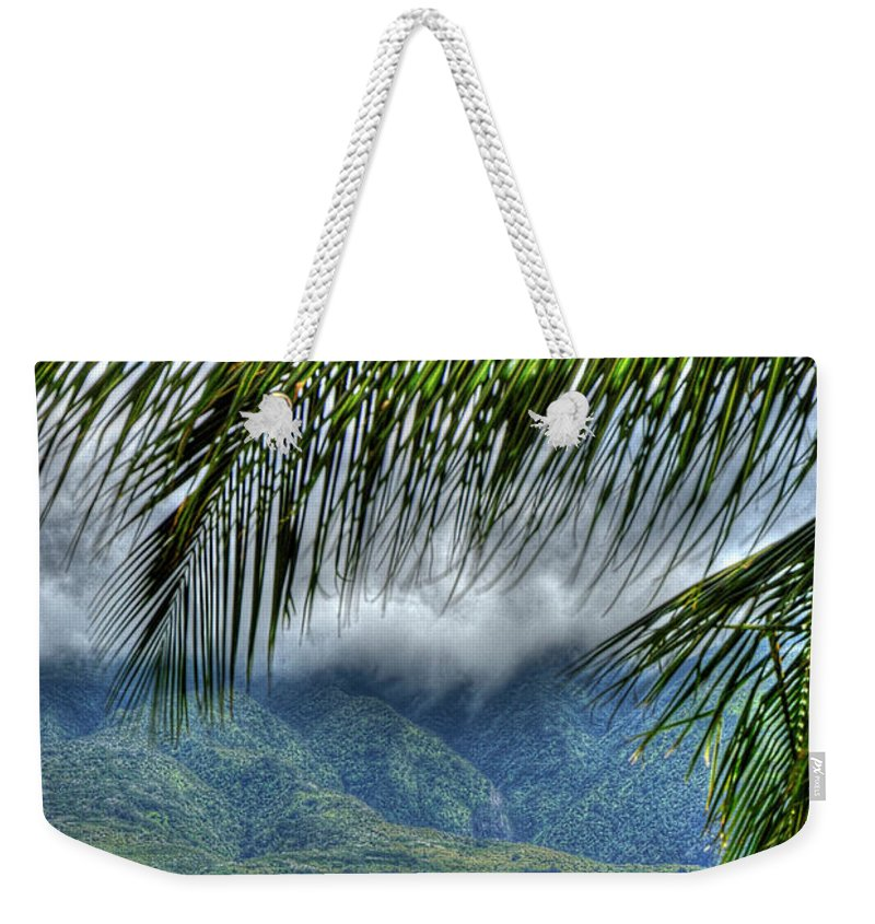 Landscape Weekender Tote Bag featuring the photograph Maui Foot Hills by Arthur Fix