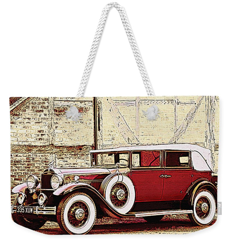 Car Weekender Tote Bag featuring the photograph Packard Standard Eight Convertible by Lyriel Lyra
