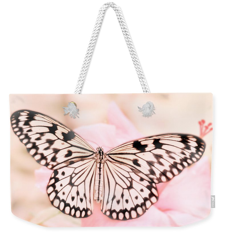 Butterfly Weekender Tote Bag featuring the photograph Paper Kite by David and Carol Kelly