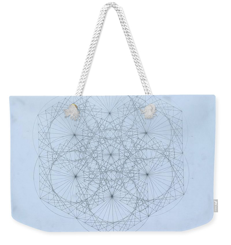 Jason Padgett Weekender Tote Bag featuring the drawing Quantum Snowflake by Jason Padgett