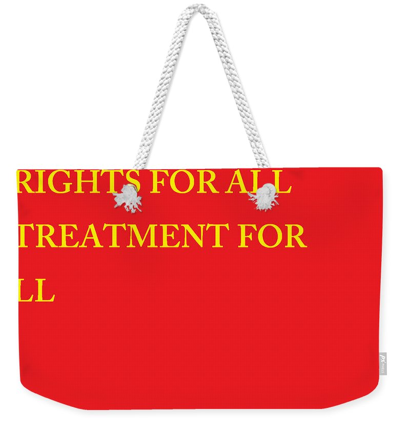 Law Weekender Tote Bag featuring the photograph Rights Statement by Aaron Martens