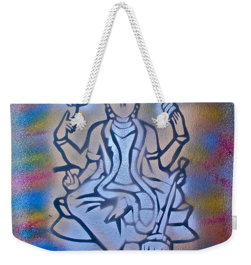 Graffiti Weekender Tote Bag featuring the painting So Shiva 1 by Tony B Conscious