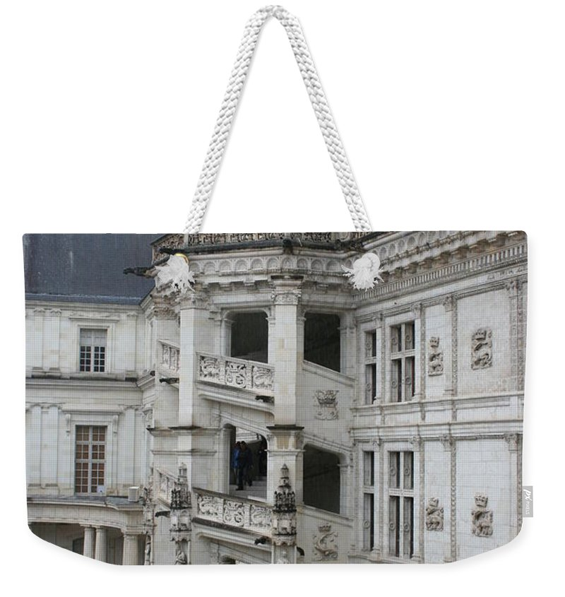 Stairs Weekender Tote Bag featuring the photograph Spiral Staircase In The Francois I Wing - Chateau Blois by Christiane Schulze Art And Photography
