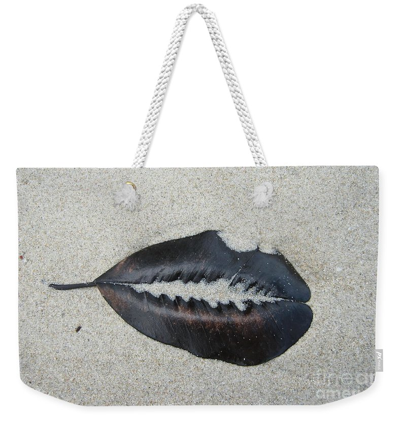 Michelle Meenawong Weekender Tote Bag featuring the photograph Stuck In Sand by Michelle Meenawong